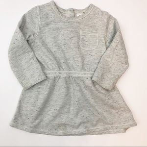 Girls 18 month STEM gray sweatshirt dress